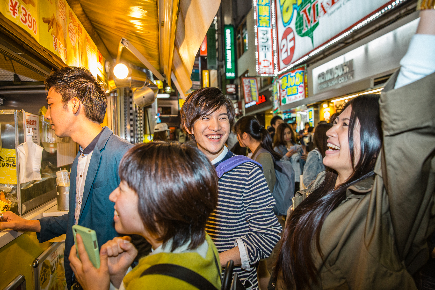 Young Adults Having a Night out in Shibuya