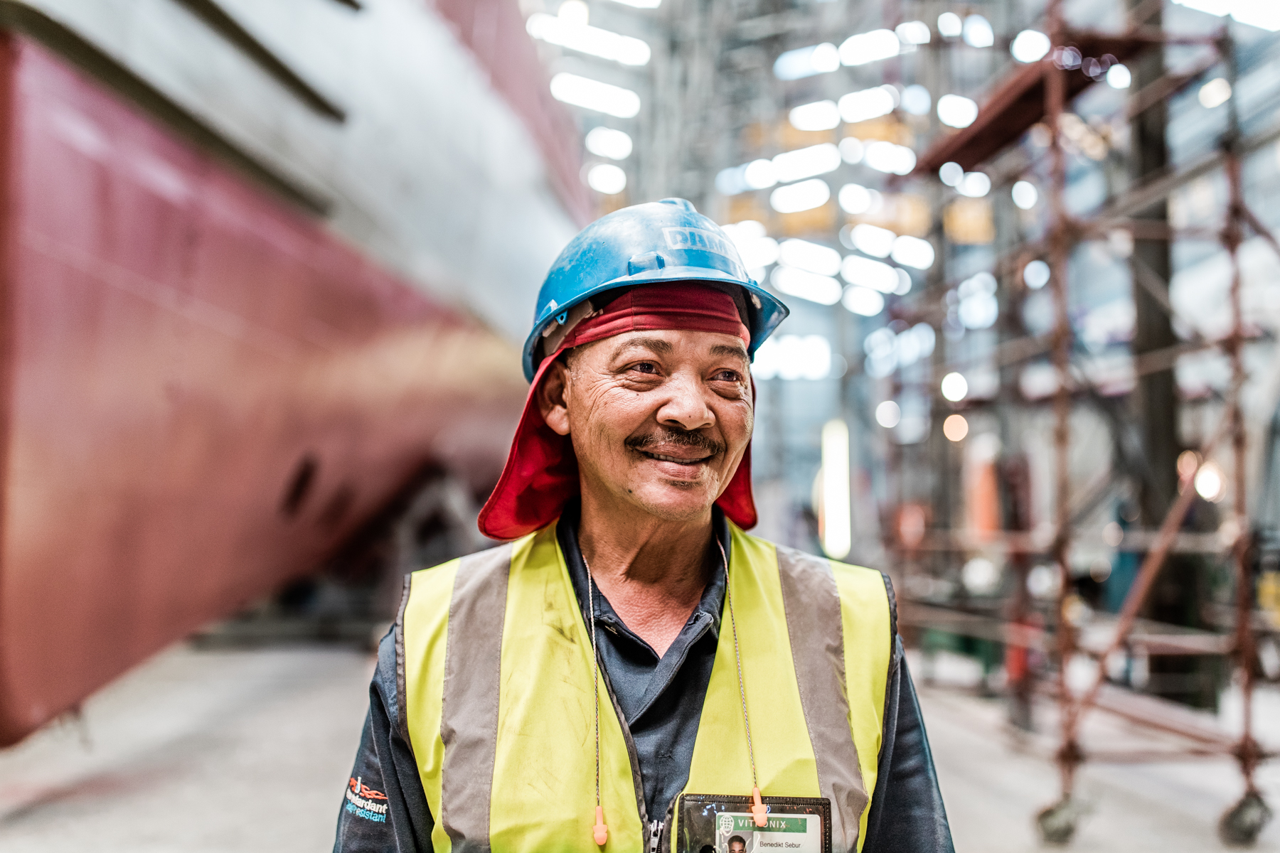 Industrial Advertising Shipyard - Portrait