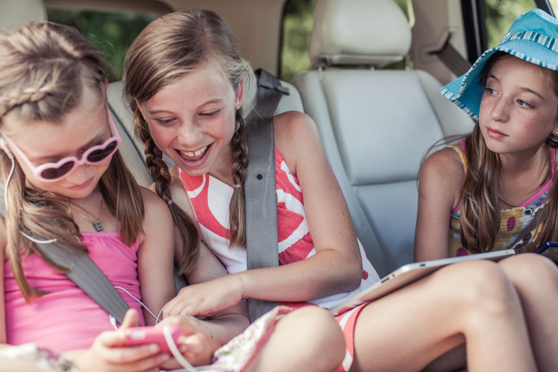 Girls Listening to Music in the Car