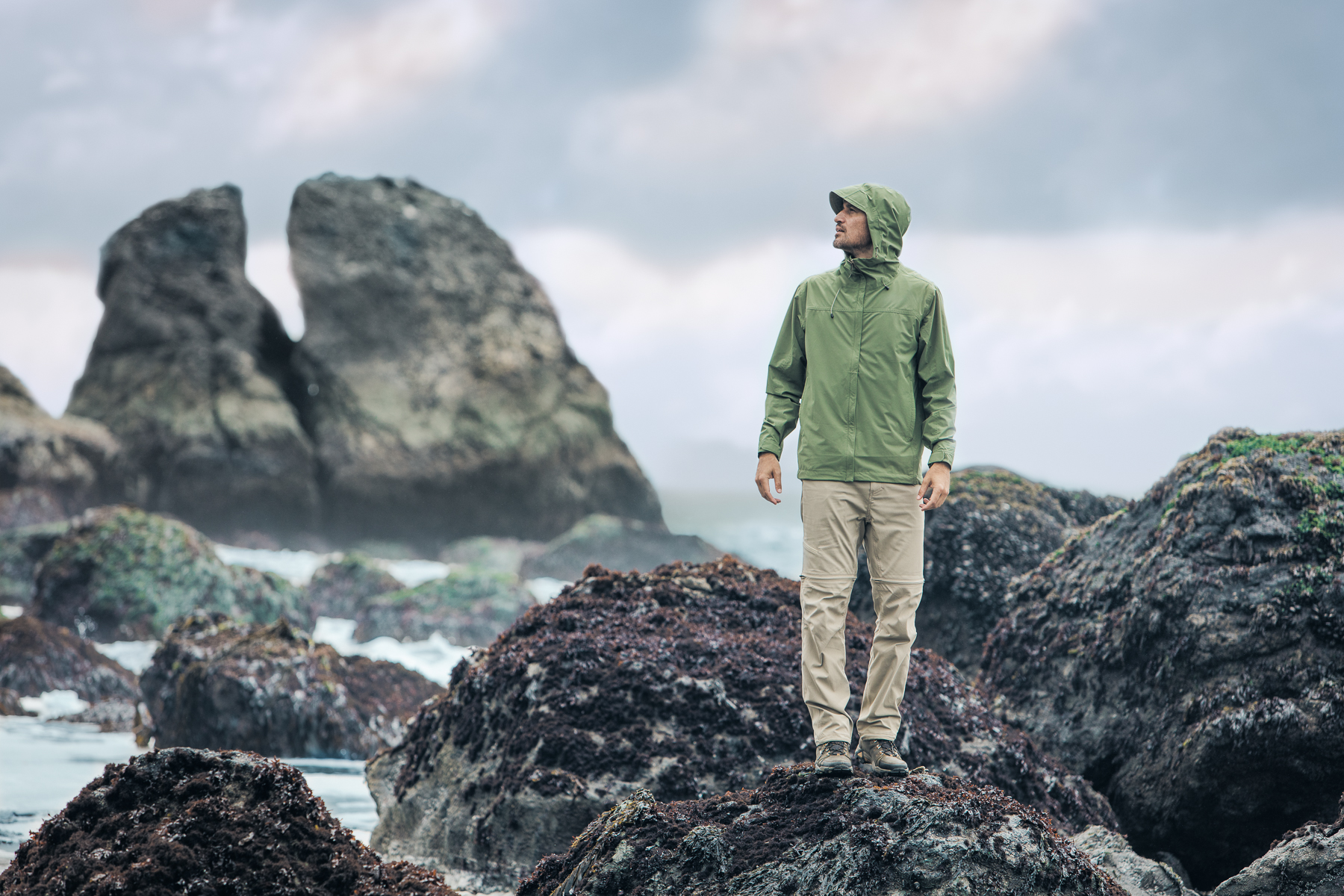 Royal Robbins - Lifestyle Advertising Hiker on the Rocks