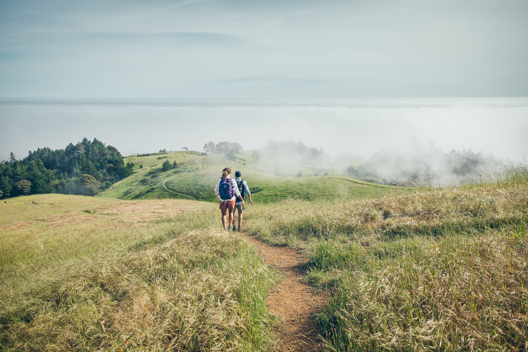 Royal Robbins - Lifestyle Advertising Two Hikers Above the Fog