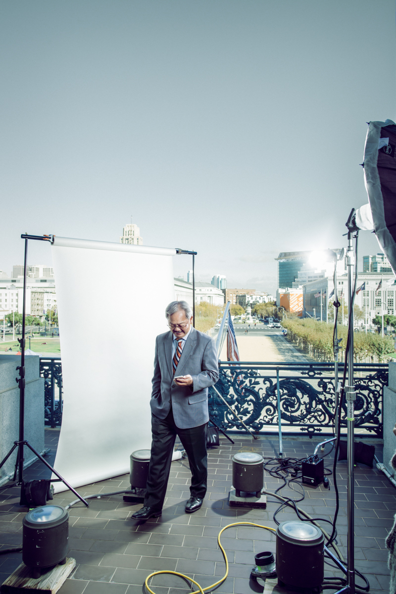 Editorial Portrait San Francisco Mayor Ed Lee